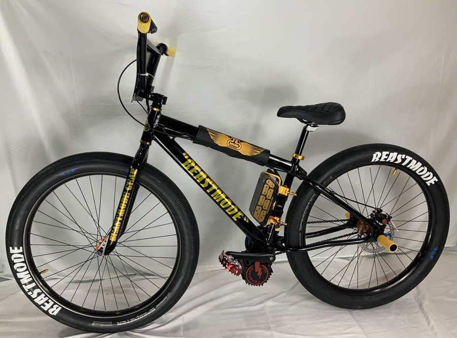 BeastMode Black Motorized BMX